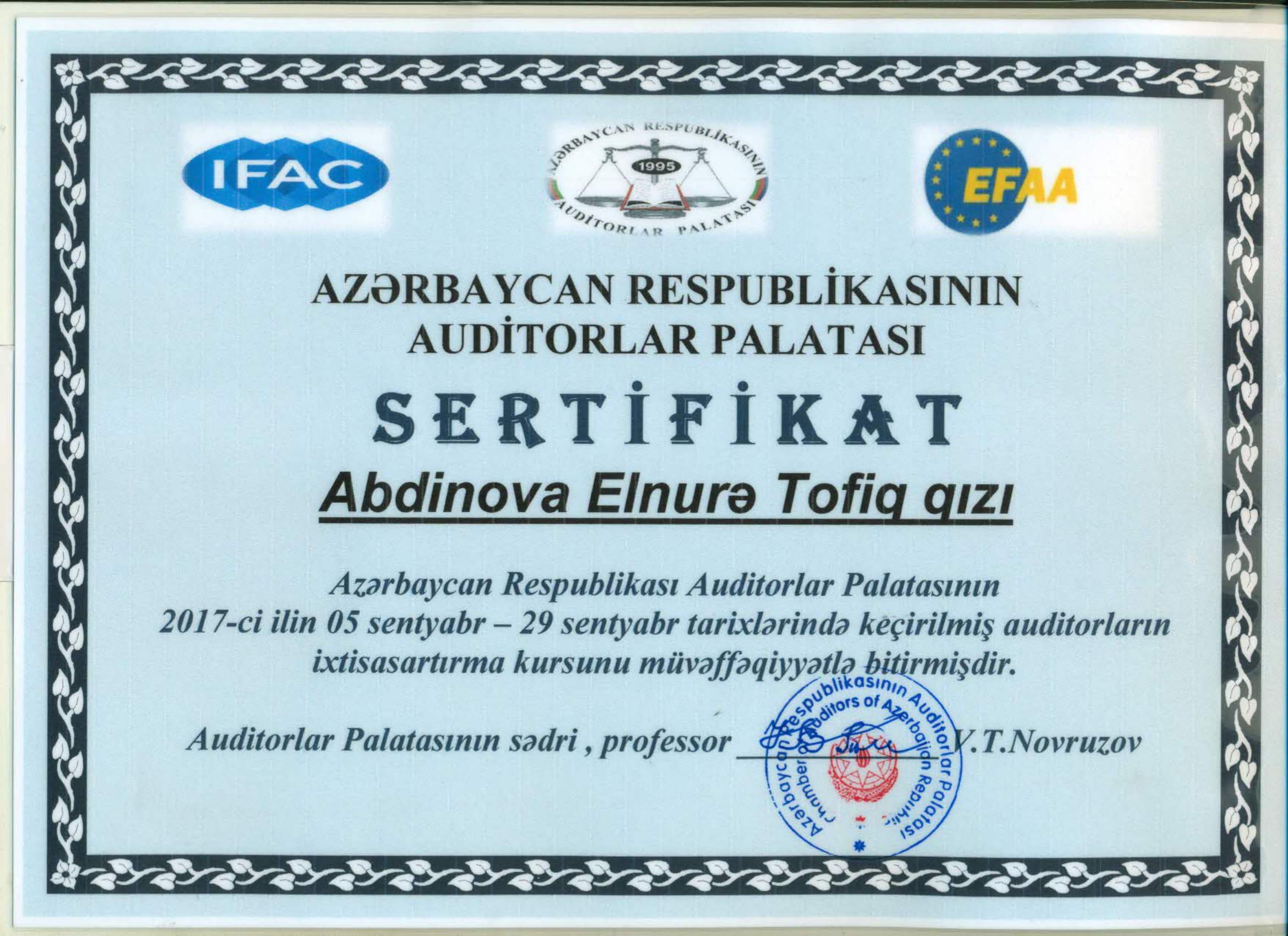 Abdinova Elnurə